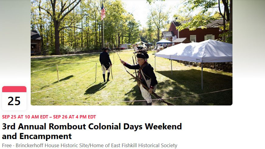3rd Annual Rombout Colonial Days Weekend and Encampment